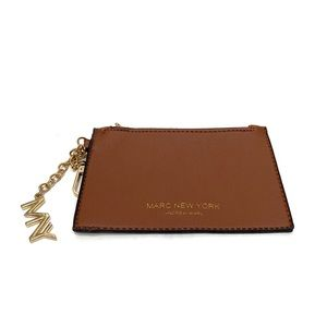 MARC NEW YORK Coin Purse Wristlet Cognac Gold